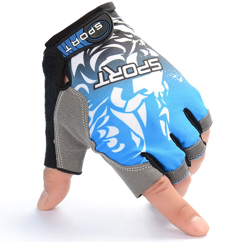 Outdoor Sports Running Gloves Half-finger Riding Cycling Hiking Gloves Breathable Absorb Sweat Training Jogging Mittens New