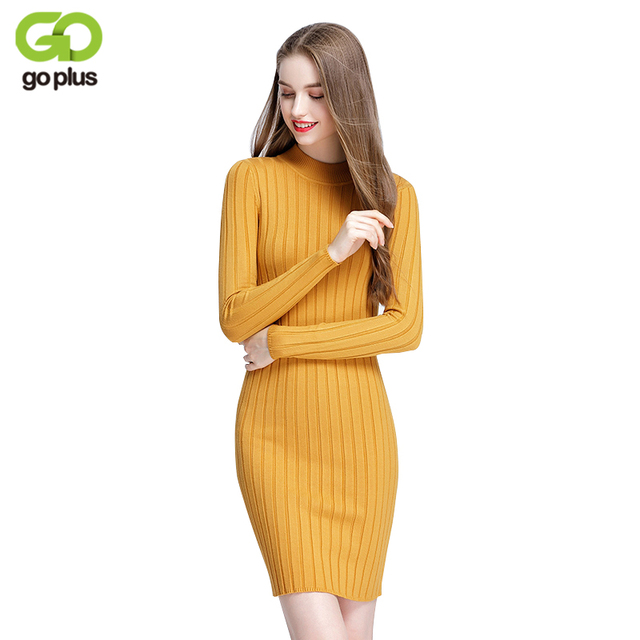 7057574bbb9d GOPLUS Warm Women Sweater Dress 2019 Fall Winter Long Sexy Bodycon Dresses  Elastic Striped Skinny Knitted