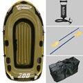2 Persona barco de pesca 218*110*36 cm inflable, barco de pesca, kayak, parche de reparación, incluya paddle, bomba, bolsa de transporte opcional
