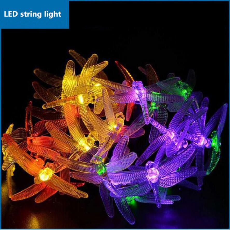 LED Butterfly solar lamp string led lamps 4.8M20PCS led light christmas lights outdoor Holiday christmas decorations for home 5