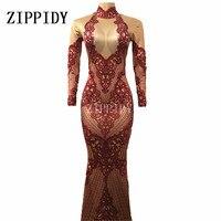 Модные Роскошные блестящие красные кристаллы платье вечернее с принтом костюм праздновать белые стразы платье День рождения длинный хвост