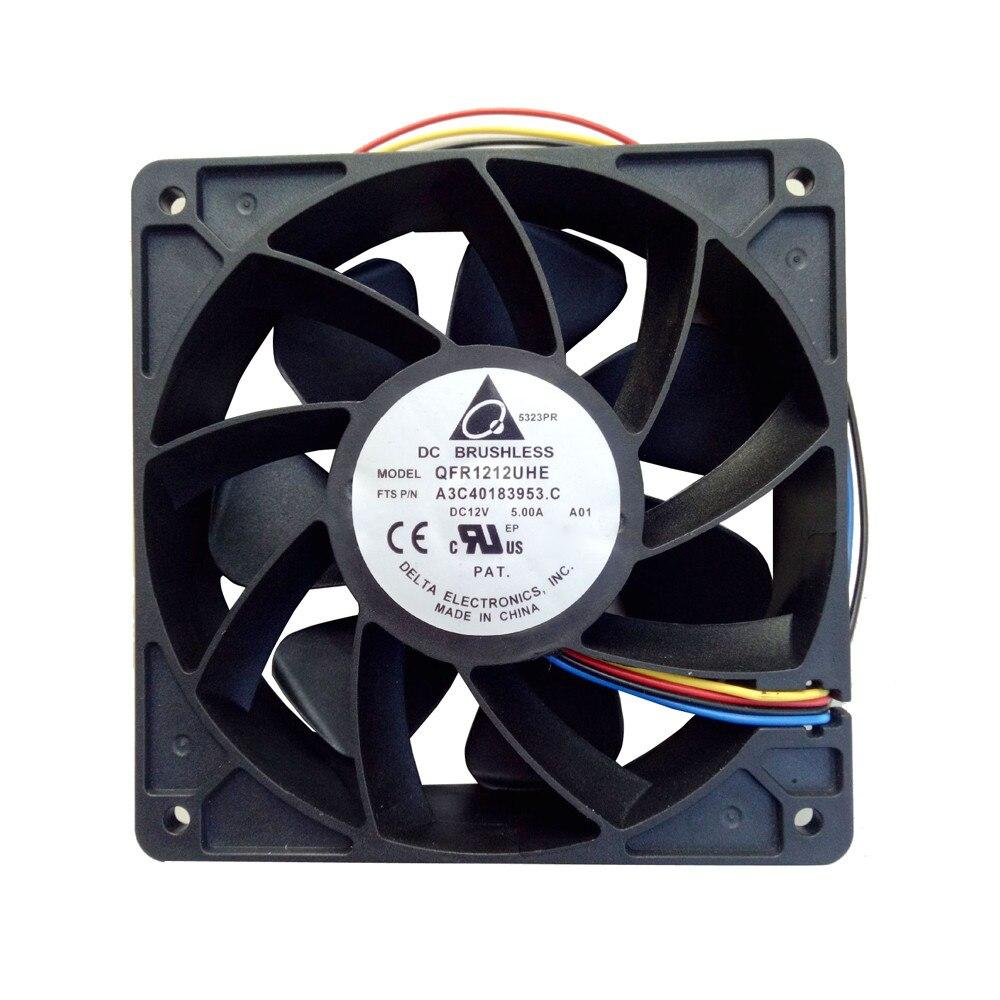 2018 nueva llegada 7000 RPM PC refrigeración CPU cooler 120mm ventilador reemplazo 4-PIN conector para antminer bitmain s7 S9 tarjeta video DIY