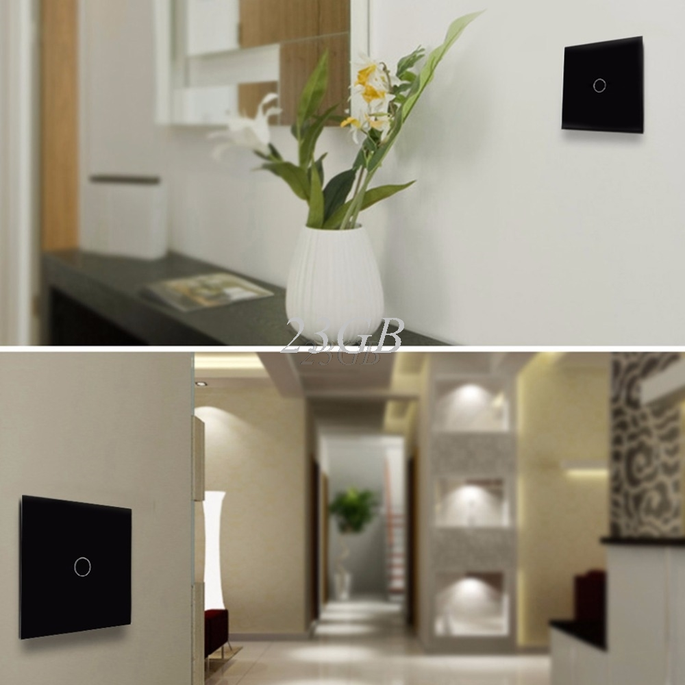 1/2/3 Gang Wall Light Touch Switch 170-240V EU Standard Smart Waterproof Glass Panel M02 smart home eu touch switch wireless remote control wall touch switch 3 gang 1 way white crystal glass panel waterproof power