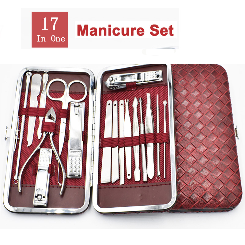 Professional Nail Clipper Set Manicure Set Grooming Pedicure Kit Includes Cuticle Remover Tools With Portable Travel Case