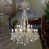 Большая лестница люстра освещение для гостиной спальня зал отель люстры para sala de jant Крытый Дом муранское стекло люстра