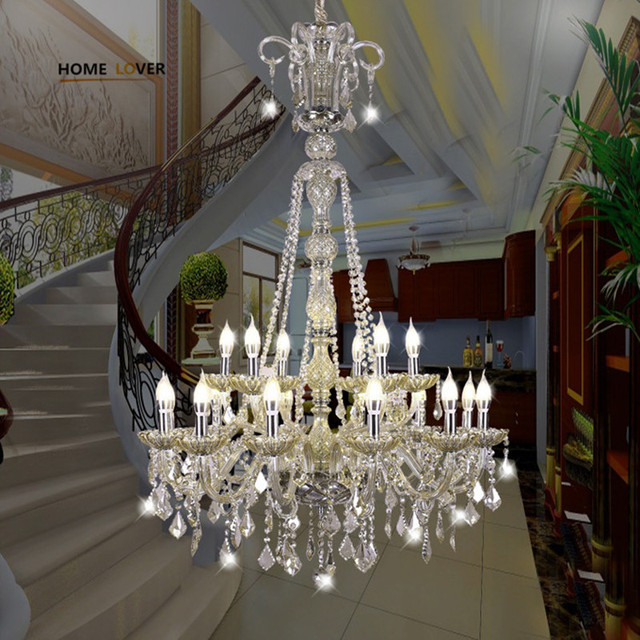 Large Stair Chandelier lighting for Living room Bedroom Hall Hotel lustres para sala de jant Indoor home murano glass chandelier