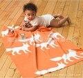 2016 Venda Nova Chegada Cobertores Do Bebê Recém-nascido Swaddle Alta Qualidade Feito Malha Handmade Sofá Lance de Tricô de Algodão Cobertor 100*130 cm