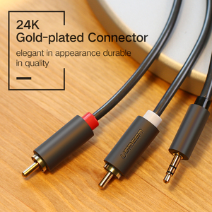 Image 5 - Ugreen RCA 3.5mm jack Cable 2 RCA Male to 3.5 mm Male Audio Cable 1M 2M 3M Aux Cable for Edifer Home Theater DVD Headphone PC