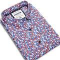 Camisas Dos Homens Moda Casual de Algodão Da Cópia Da Flor Floral Sprint Outono Marca Manga Comprida Suave Slim Fit Camisas Masculinas de Alta Qualidade