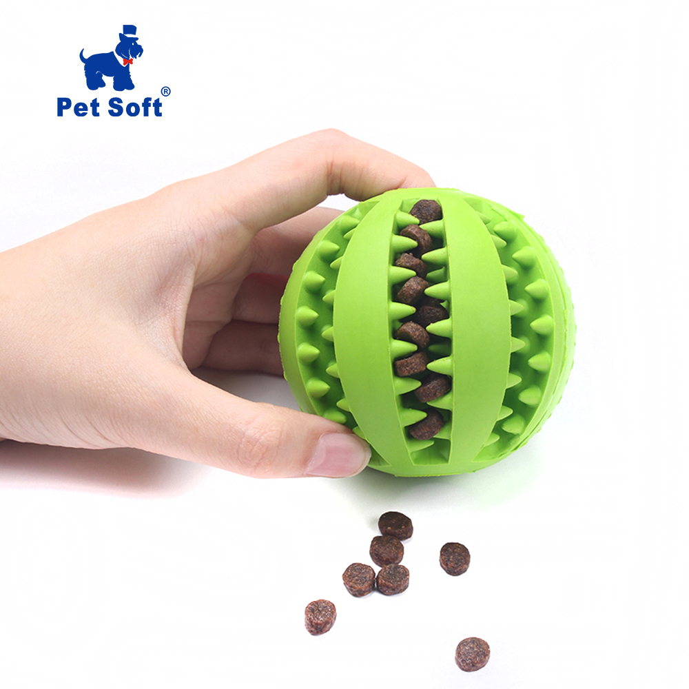 Pet Soft Sof Pet Dog Funny Toy For Dog Rubber Ball
