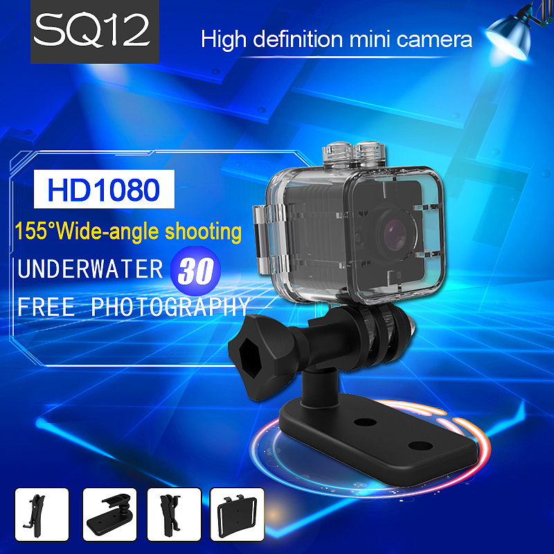 New Version SQ11 Mini Camera SQ12 Waterproof 1080P 720P HD Micro Camera Motion Detection DVR Wide-Angel Night Vision Mini Cam