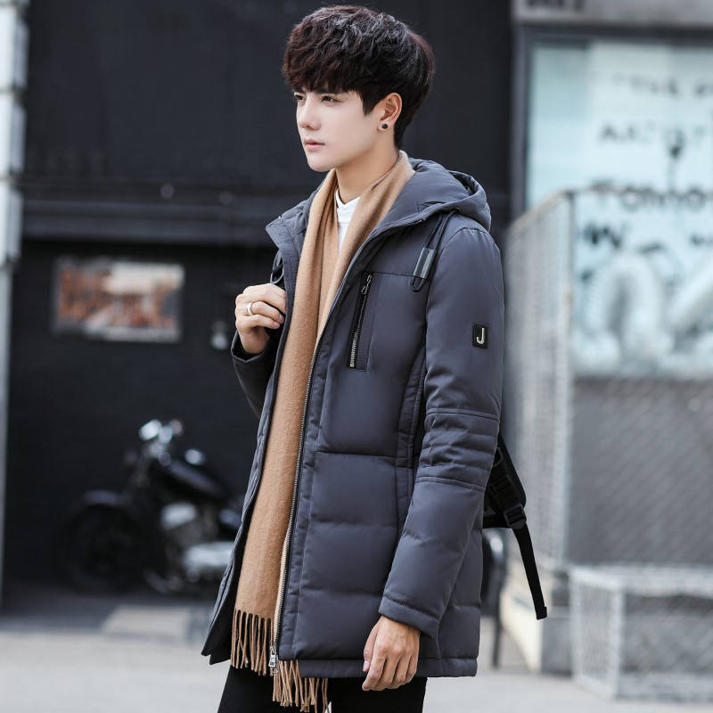2017 New Winter Men's Down Jacket Korean Thicker Jacket Young Students In The Long Paragraph White Duck Down The Tide. skinnwille 2016 new products down jacket in winter more female in long white duck down even the chinstrap collars winter