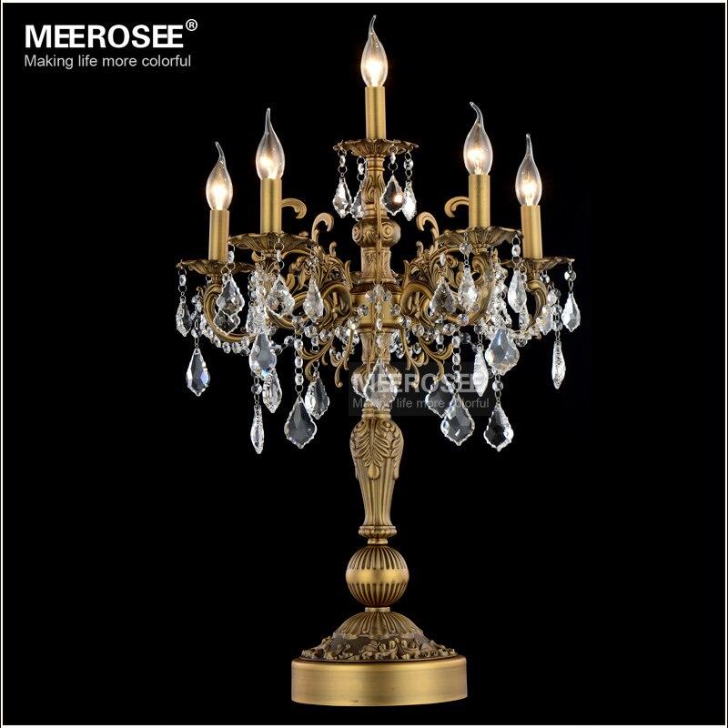 Cristal de lujo mesa escritorio moderno candelabros de la boda mesa de cristal Lustres Sala dormitorio iluminación