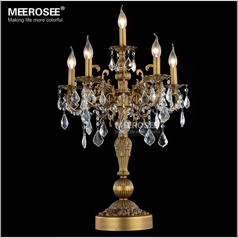 Luxueux Cristal Lampe De Table Moderne Lampe De Bureau De Mariage Candélabres En Cristal Table Lustres salon Chambre Éclairage