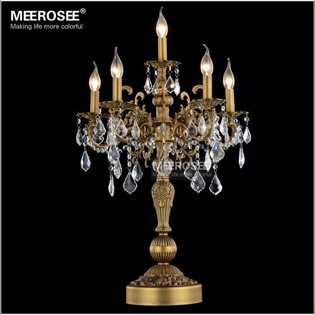 luxurious lighting. luxurious bronze color crystal table light desk wedding candelabra lustres lighting
