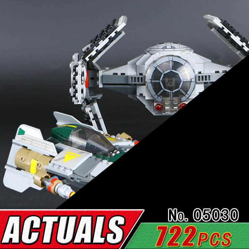 LEPIN 05030 Star Series Compatible 75150 Vader War Fighter Model Building Block Bricks Children Educational Classic Military Toy new military series world war ii germany panzer iv tank building brick block toys compatible with lepin