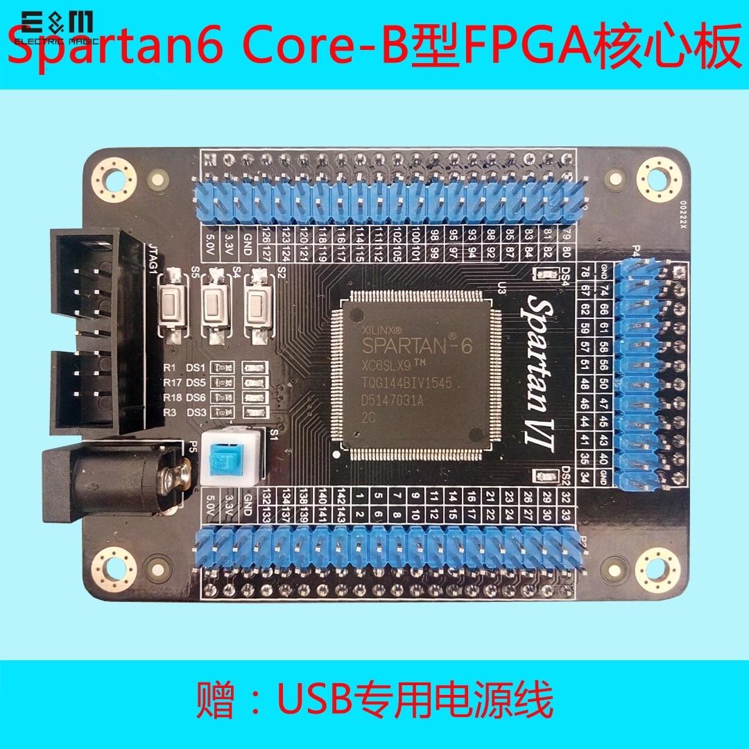XILINX sparan 6 Core B FPGA développement carte de démarrage XC6SLX9 2TQG144C Programmable logique IC kit de bricolage outil puce ordinateur