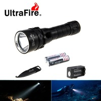 Ultrafire U 88 XM L2 Cool White Light Diving Flashlight LED Torch W Keychain Knife Charger