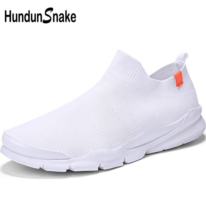 Hundunsnake Knit Running Socks Sneakers Men Sport Shoes Woman Running Shoes Men's White Sports Shoes For Male Basket Homme T669