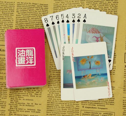 1000 Teile/los Kundenspezifische Logo 62*87mm Hohe Qualität 300g Spielkarte Deck Geschenk Modische Und Attraktive Pakete