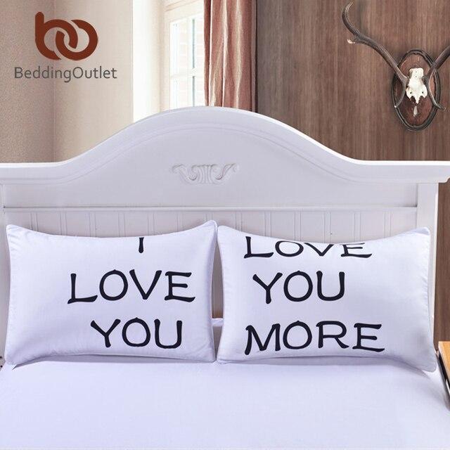 beddingoutlet je t aime plus taie d oreiller couverture oreiller de noel romantique anniversaire