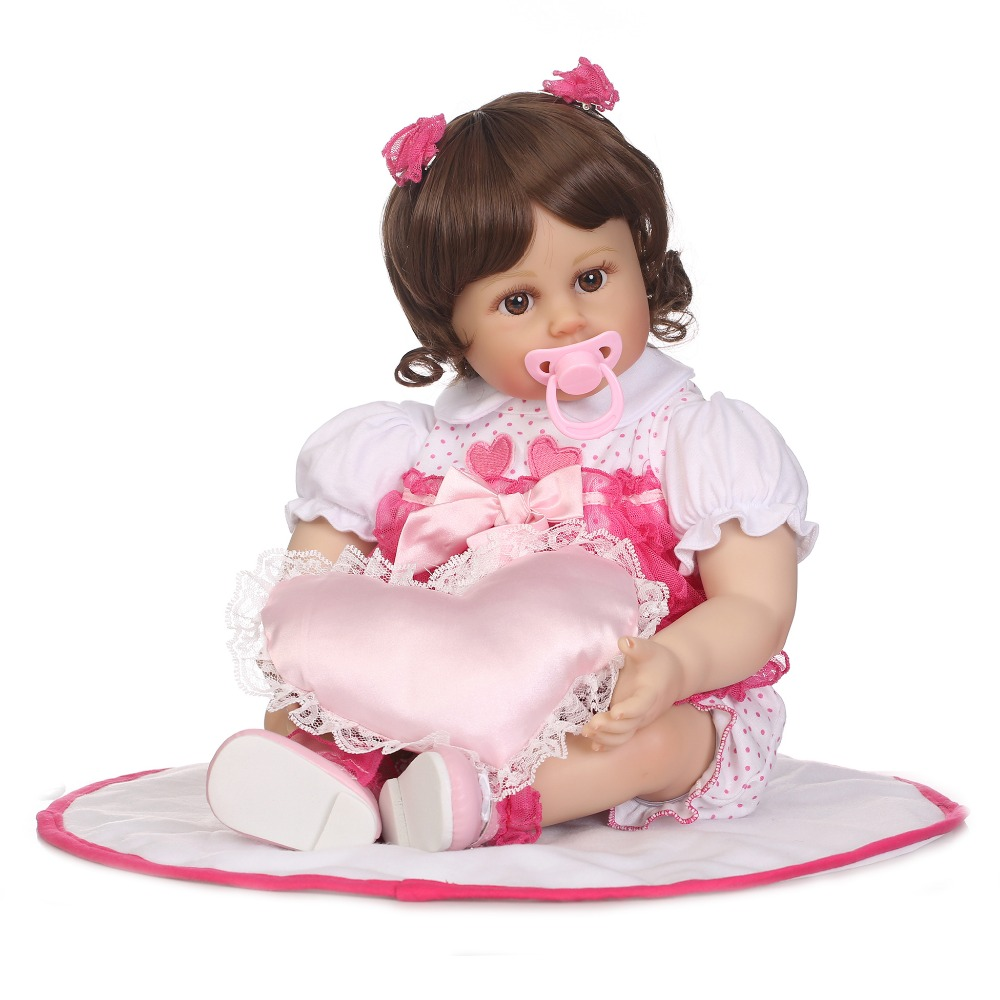 NPKCOLLECTION 22 Realistic Reborn Baby Doll with Soft Real Gentle Touch Boneca Reborn Toys Playmates Reborn Doll for Chlidren warkings reborn
