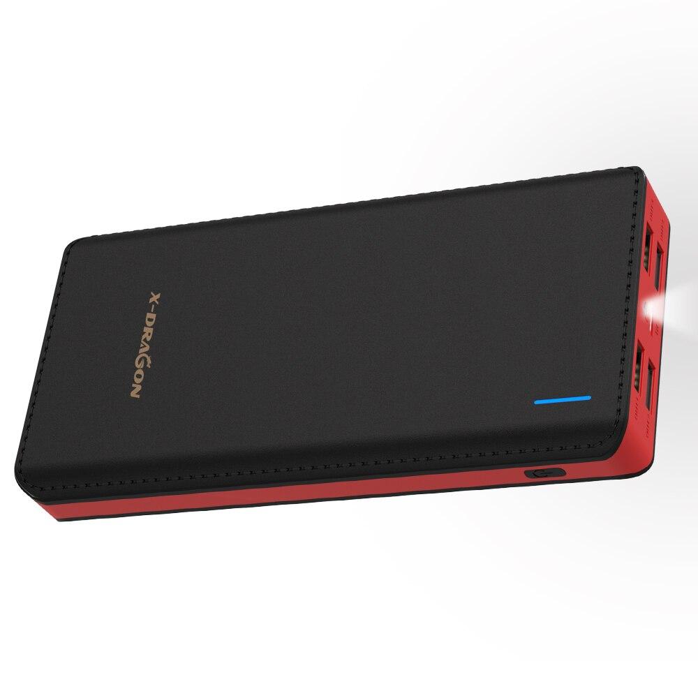 24000 mAh Banco de potência Bateria Externo Portátil Saída USB Carga Rápida para iPhone 4 X Xiao mi Nota 8 a2 xio mi Honra