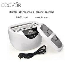 Цифровой ультразвуковой очиститель корзины ювелирные часы стоматологические 2.5L 60 Вт 40 кГц Отопление ультразвуковой очиститель овощей Ванна