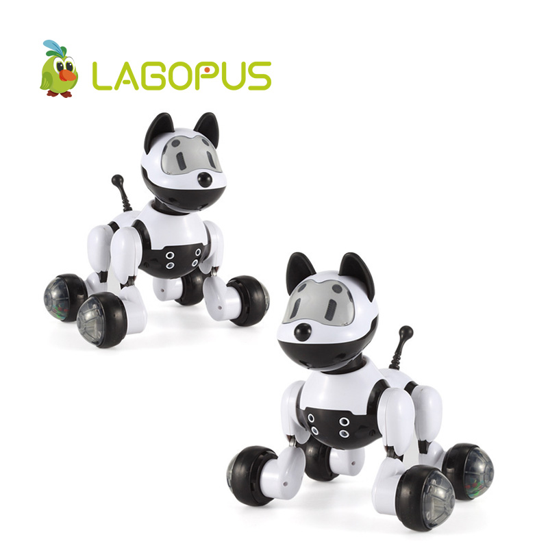 lagopus Electric Pet Toys for Children Fun Educational Voice Robot Intelligent Sound Control Cute Dog and Cat Gift for Kids lider kids urban blue cat and dog
