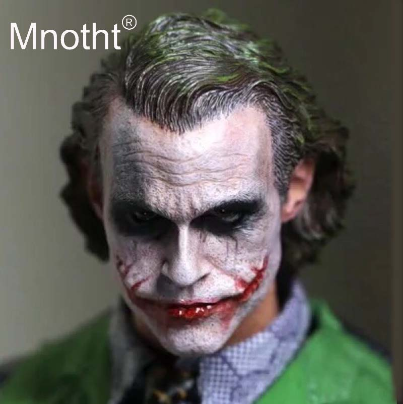 Joker Heath Ledger 1/6 Scale Soldier Head Sculpt Male Resin Head Carving Mdel for 12inch Action Figure Toys Collection Mnotht 1 6 scale wolverine 3 logan hugh jackman head sculpt for 12 figure hot toys male head carving soldier head model toys
