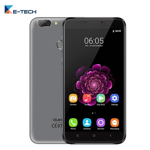 Oukitel U20 плюс смартфон MTK6737T Quad Core 5.5 дюймов IPS FHD 1080 P Экран 2 ГБ Оперативная память 16 ГБ Встроенная память отпечатков пальцев 13 м 4 г FDD LTE телефон