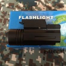 600Lm LED Bulb Outdoor Camping Gun Rifle Shotgun Flashlight Mount Hunting Light Torch 20 mm CQC