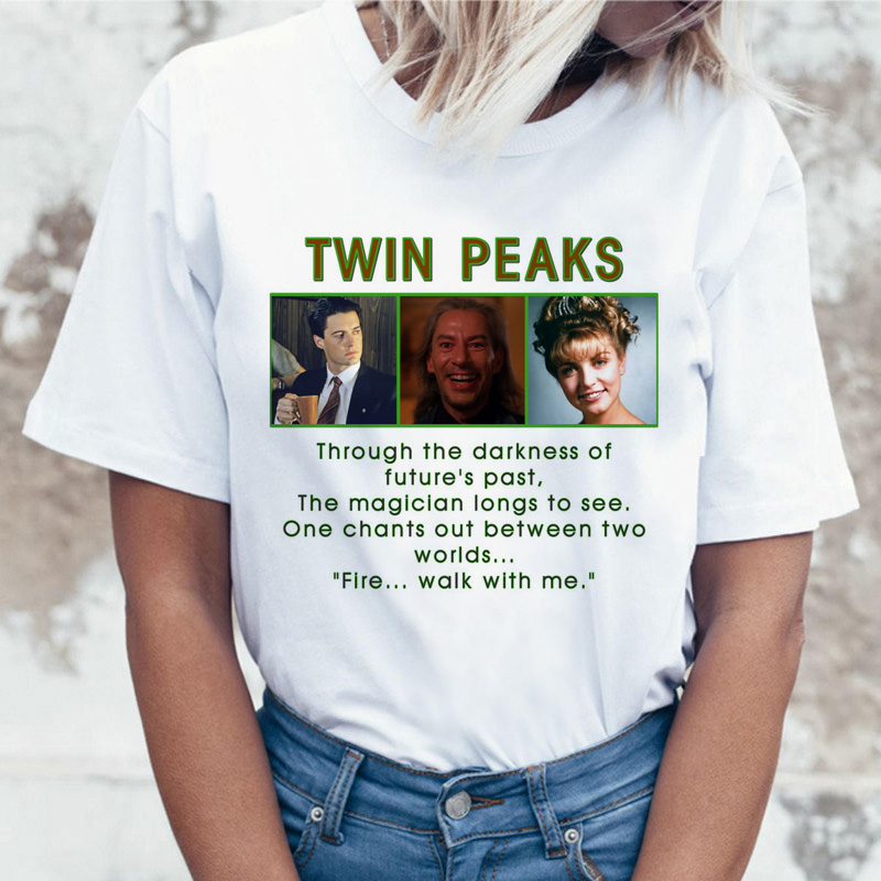 Twin Peaks T Shirt Women David Lynch Tshirt T-shirt Top Tee Shirts 2019 Kawaii Japanese Streetwear Female Femme Ulzzang Harajuku