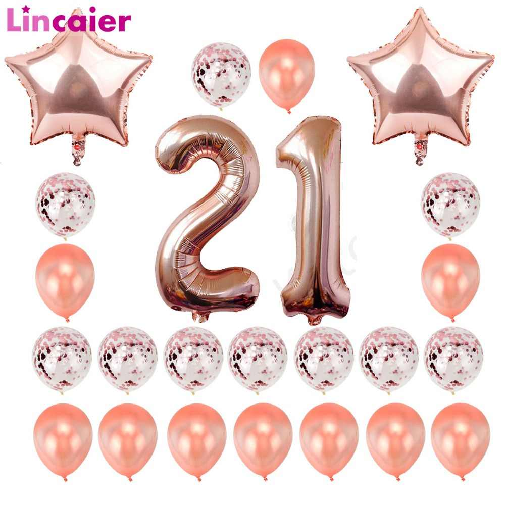 Detail Feedback Questions About Lincaier 32inch 62cm Happy 21st Birthday Balloons 21 Years Party Decorations Man Girl Woman Supplies On Aliexpress