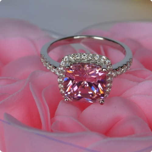 pink gia rings ring diamond cut rose kingsley gold engagement solitaire emerald
