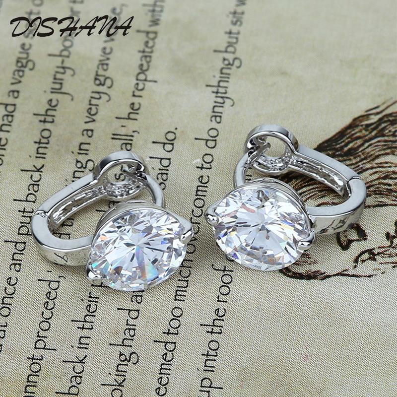Kullavärvi väikesed kõrvarõngad valgemad kristall ehted bränd - Mood ehteid - Foto 5