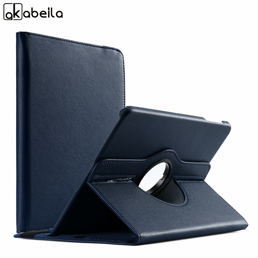 AKABLEILA Litchi Pattern Tablet PU Leather Case For Samsung Galaxy Tab S3 9.7 inch T820 Case 360 Rotating Stand Protective Cover