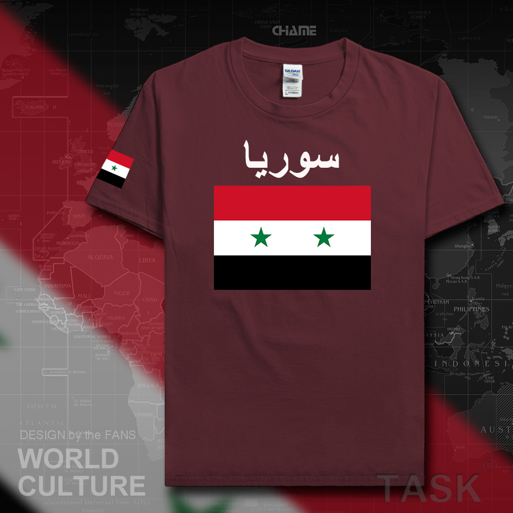 Design t shirt arabic - Syrian Arab Republic Syria Men T Shirt 2017 Jerseys Nation Team Tshirt Cotton T Shirt Clothing Tees Country Sportig Syr Arabic