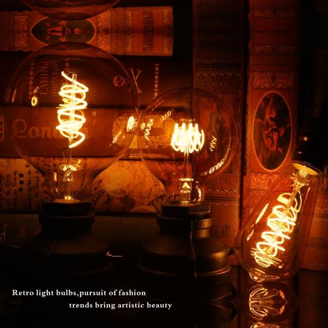 LATTUSO Retro Spiral Light LED Filament Bulb 220V ST64 G125 G95 G80 T45 Dimmable 4W 2200K Vintage Lamps For Decorative Lighting