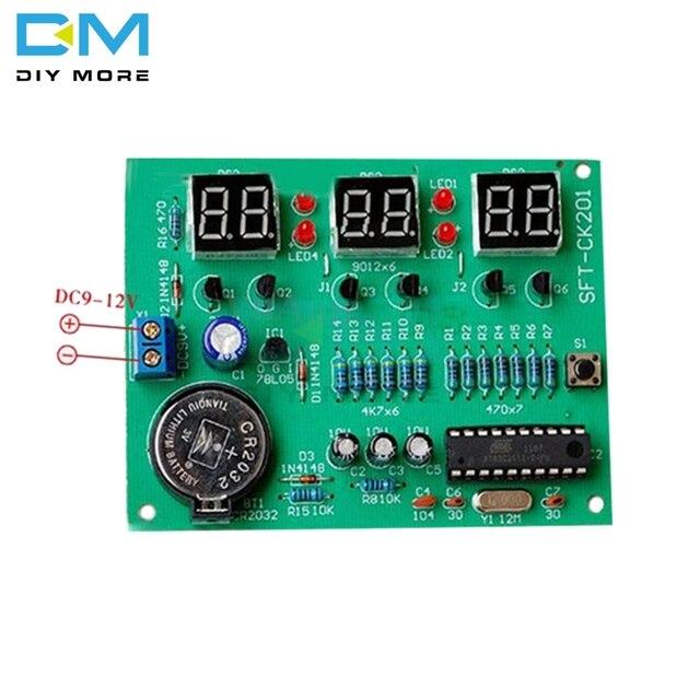 diy kit module 9v 12v at89c2051 6 digital tube led electronic clockdiy kit module 9v 12v at89c2051 6 digital tube led electronic clock parts components suite