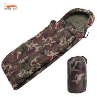 Waterproof Military Camouflage Polyester Cotton Envelope Outdoor Camping Hiking Sleeping Bags Spring And Autumn Female Models