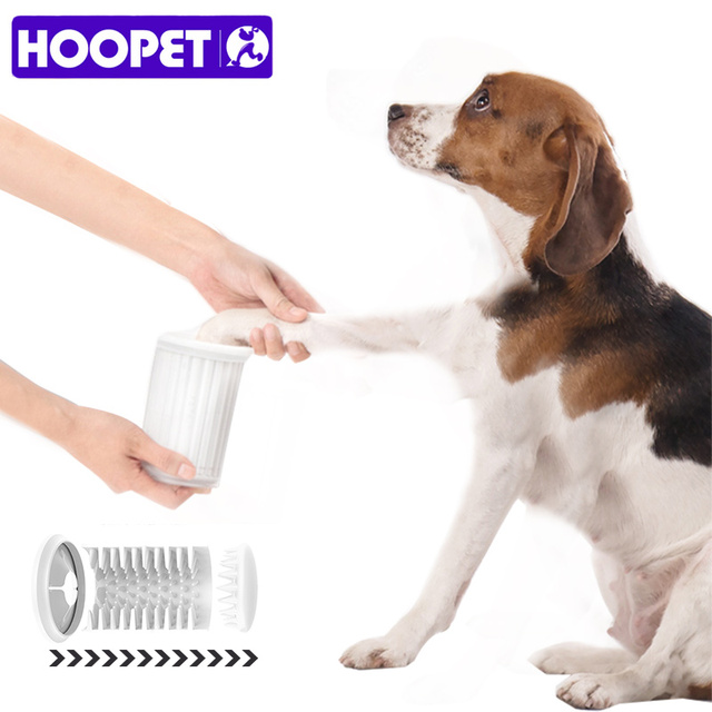 Hoopet Pet Foot Washer Cup Portable Dog Wash Tools Clean Brush
