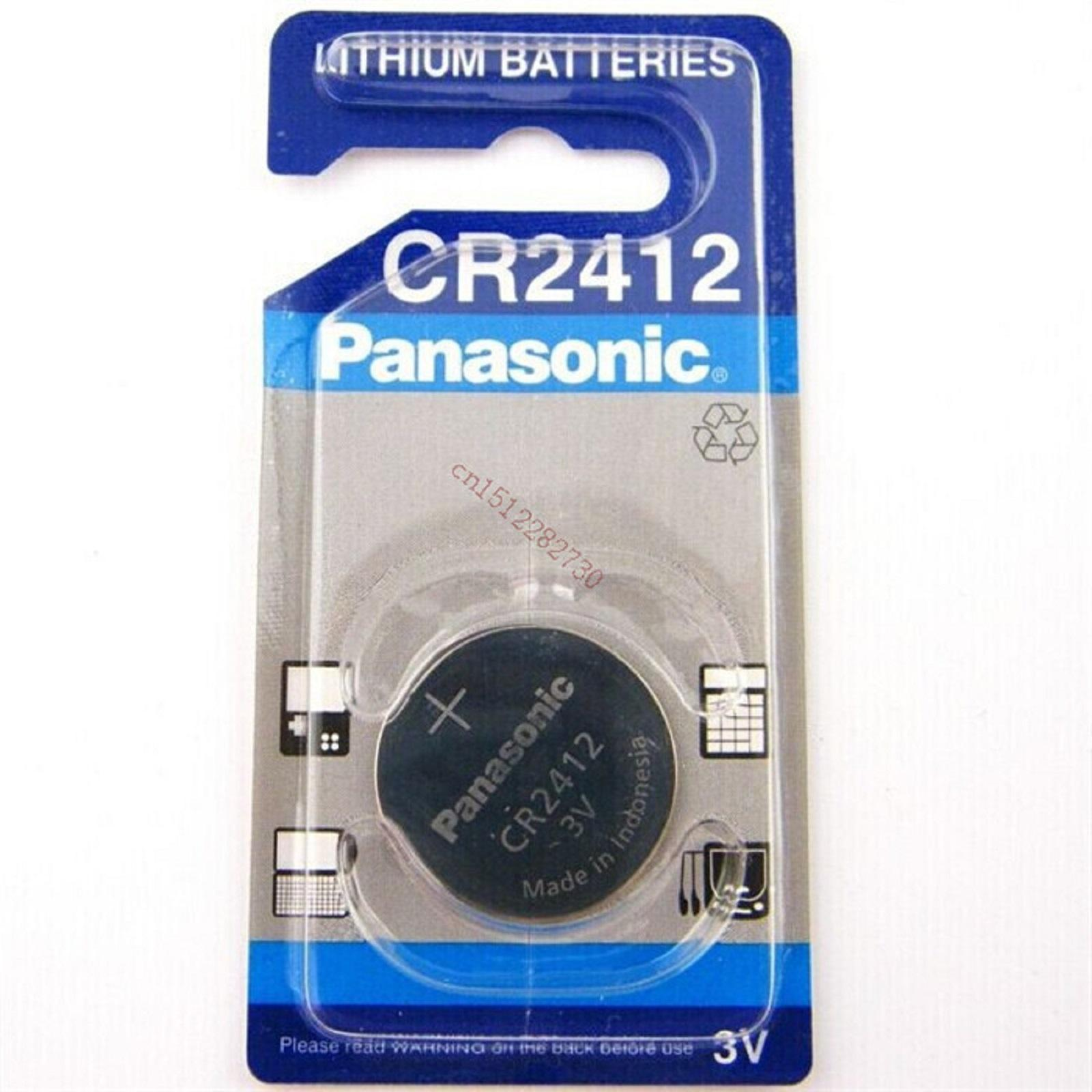 Pilas de boton Panasonic bateria original plaio CR2412 3 V en blister 5X Unidades