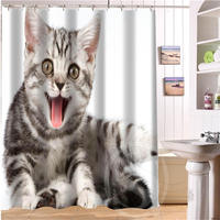 Lovely cat Personalized Custom Shower Curtain Bath Curtain Waterproof  MORE SIZE SQ0515-66