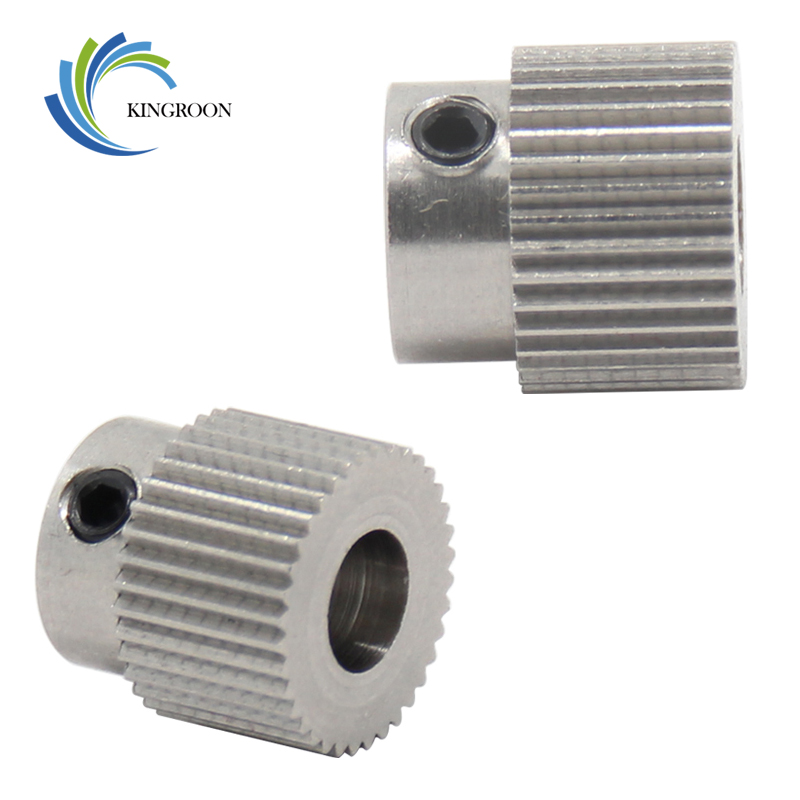 MK7 MK8 Gear 36tooth Extruder Feeder Driver Teeth Pulley Bore 5mm 3D Printers Parts 36Teeth Tooth Wheels Part Stainless Steel