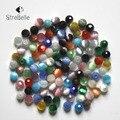 Forma redonda facetada esferas DIY Contas Olho de Gato 100 PCs Mista cor Beads Fit DIY Colar Pulseira Jóias Presentes 6mm livre grátis