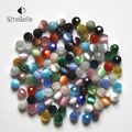 Round shape faceted beads DIY Cat Eye Beads 100PCs Mixed color Beads Fit DIY Bracelet Necklace Jewelry Gifts 6mm free shipping