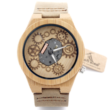 Original Movement Visible Wooden Watches
