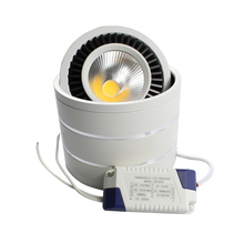 Surface mouted led COB downlight 5W/7W/9W/20W led lamp AC85-265V ceiling spot light with led driver white/warm white