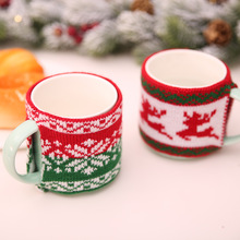 Christmas Knitted Woolen Cup Set Jacquard Knitting Knit Sets Cute Decorations For Home Kitchen Supplies